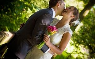 photo mariés mariage laique
