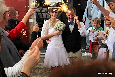 sortie des mariés ceremonie laique