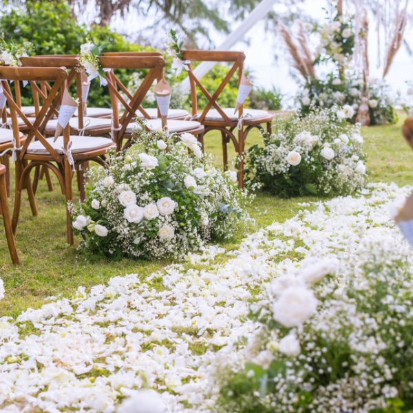 decoration fleur mariage laique