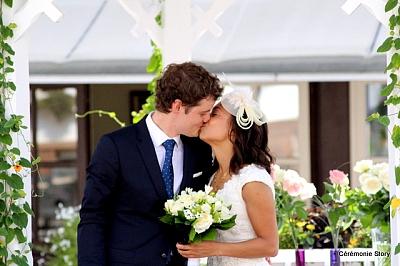 mariage laique photo des maries