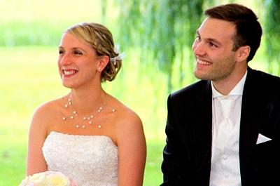 mariage laique photo des mariés